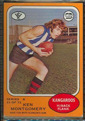 1973 Scanlens (Scanlens) Australian Football Ken Montgomery Trade Card; Documents and books; 1994.3042.668