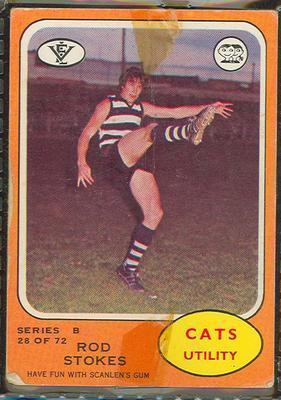 1973 Scanlens (Scanlens) Australian Football Rod Stokes Trade Card