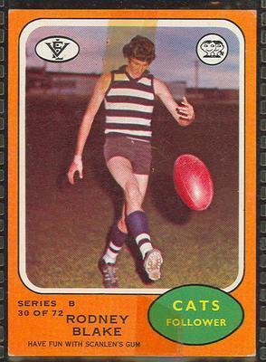 1973 Scanlens (Scanlens) Australian Football Rodney Blake Trade Card