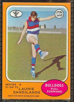 1973 Scanlens (Scanlens) Australian Football Laurie Sandilands Trade Card; Documents and books; 1994.3042.673