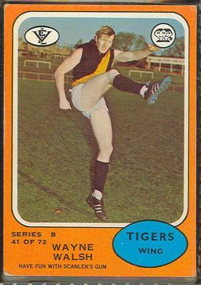 1973 Scanlens (Scanlens) Australian Football Wayne Walsh Trade Card; Documents and books; 1994.3042.679