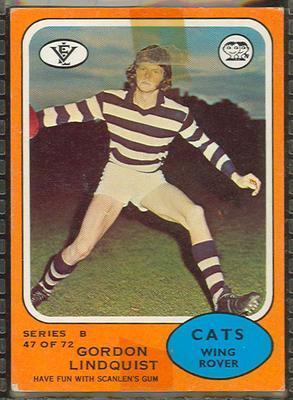 1973 Scanlens (Scanlens) Australian Football Gordon Lindquist Trade Card