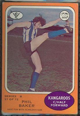 1973 Scanlens (Scanlens) Australian Football Phil Baker Trade Card