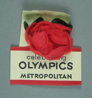 Fabric rosette, Celebrating Olympics Metropolitan
