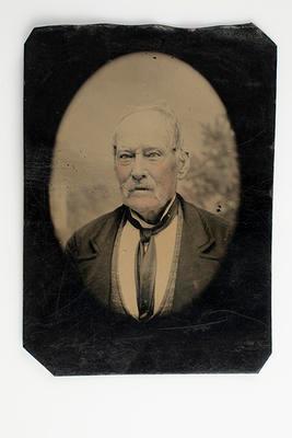 Tin type photograph of Homan Taylor