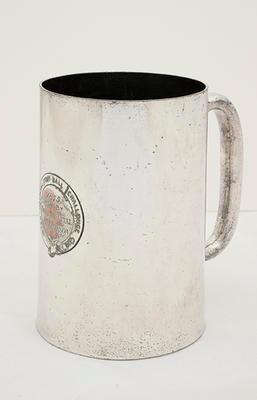 Tankard presented to A.W Pearson, Inter-Hospital Football Challenge Cup, London, 1875