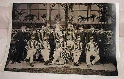 Black and white copy of photograph, M.C.C. Australian XI at Sheffield Park 1886; Photography; M16917