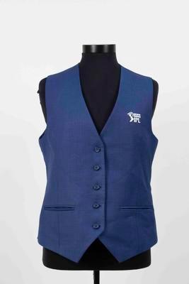 Indian Premier League media vest worn by Mel Jones