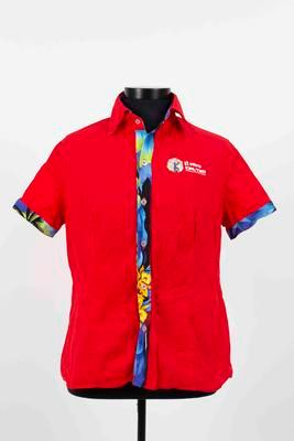 Caribbean Premier League media shirt worn by Mel Jones, 2018