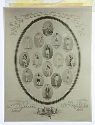 "Photograph of print, ""Australian Aboriginal Cricketers"""