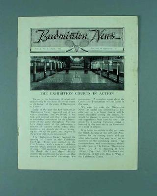 """Newsletter, """"Badminton News"""" vol 1 no 2 April 1932"""