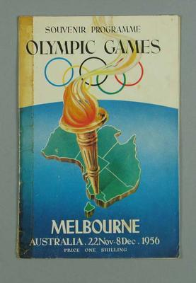Programme, 1956 Melbourne Olympic Games