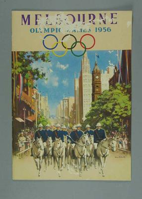 """Book, """"Melbourne / Olympic Games 1956"""""""