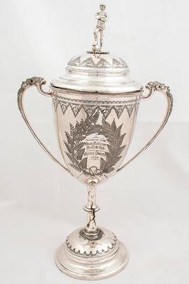 Trophy presented to Sonny Elms, Captain of Premier Team 1888-89