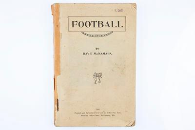 """Booklet, """"Football by Dave McNamara""""; Documents and books; 1988.1904.1"""