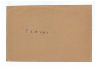Envelope, used to store Essendon FC trade cards; Documents and books; 1991.2494.22