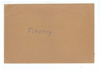 Envelope, used to store Fitzroy FC trade cards