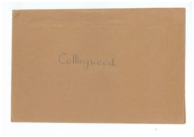 Envelope, used to store Collingwood FC trade cards