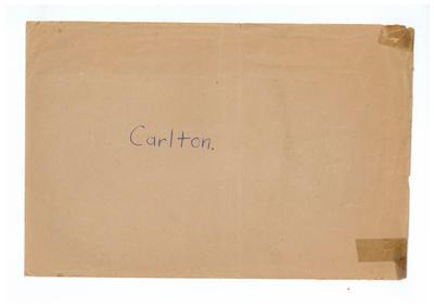 Envelope, used to store Carlton FC trade cards