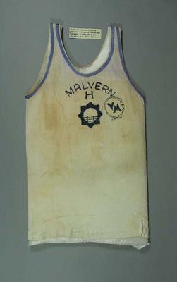 Singlet, worn by Percy Cerutty
