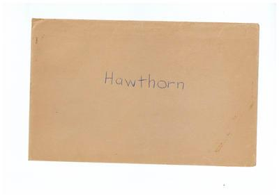 Envelope, used to store Hawthorn FC trade cards