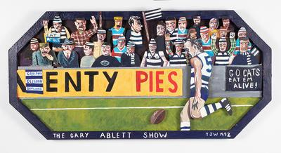 """Painted assemblage, """"The Gary Ablett Show"""" by Timothy James Webb"""