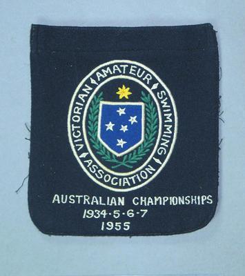 VASA blazer pocket, Australian Championships 1934-37 & 1955; Clothing or accessories; 1992.2627.3