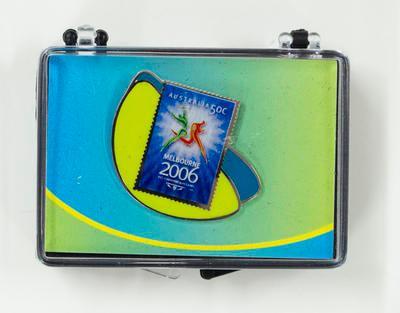 Lapel pin & box - 2006 Melbourne Commonwealth Games souvenir