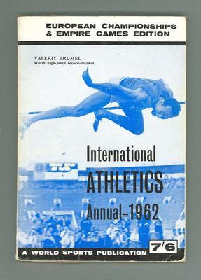 "Magazine, ""International Athletics Annual 1962"""