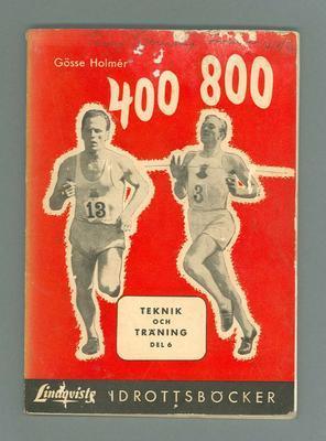 "Book, ""400 - 800 Training"" by Gosse Holmer 1952"