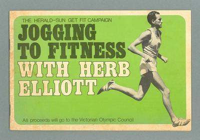 """Booklet, """"Jogging to Fitness with Herb Elliott"""" c1970s"""
