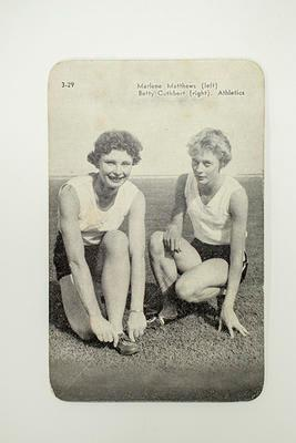 Printed Reproduction Photograph  - Athletics - Marlene Mathews and Betty Cuthbert