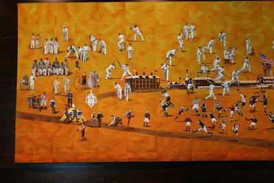 Tapestry, commissioned by the MCC to celebrate Melbourne Cricket Ground 150th Anniversary; Artwork; M10879