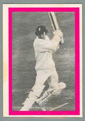 1974 Sunicrust Cricket - Australia v England, Keith Fletcher trade card