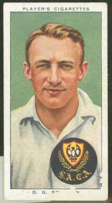 1938 Player's Cigarettes Cricketers Don Bradman trade card