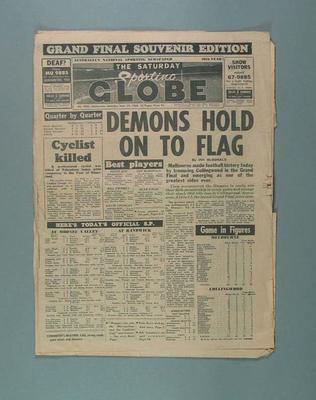 "Newspaper, The Sporting Globe ""Grand Final Souvenir Edition"" 24 Sept 1960"