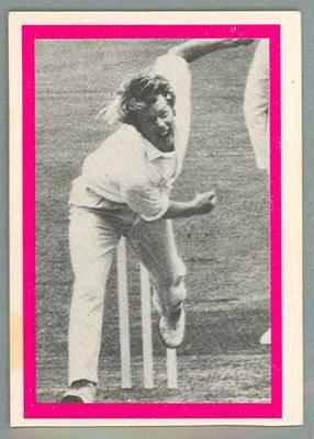 1974 Sunicrust Cricket - Australia v England, Peter Lever trade card