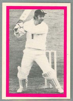 1974 Sunicrust Cricket - Australia v England, David Lloyd trade card