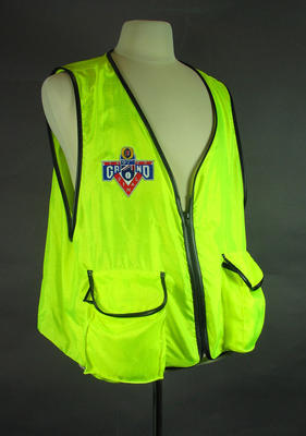 Photographer's vest, 1993 AFL Grand Final; Clothing or accessories; 1999.3527.2