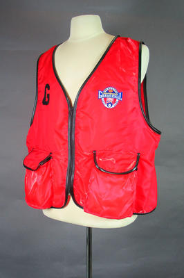 Photographer's vest, 1996 AFL Grand Final