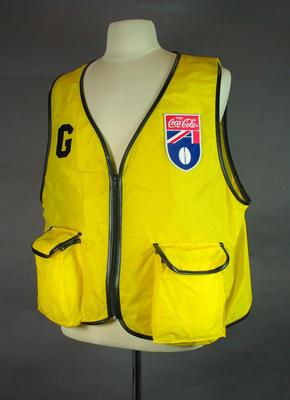 Photographer's vest, AFL c1990s; Clothing or accessories; 1999.3527.5