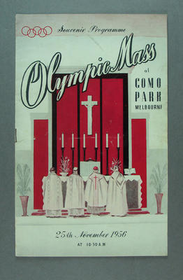 Programme for Olympic Mass at Como Park, 25 Nov 1956