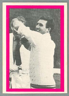 1974 Sunicrust Cricket - Australia v England, Fred Titmus trade card