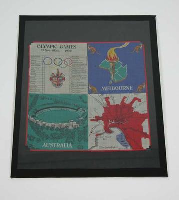 Handkerchief, 1956 Melbourne Olympic Games design