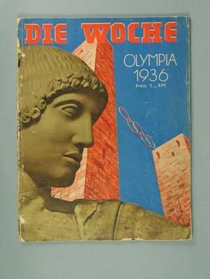 "Magazine, ""Die Woche"" - 1936 Olympic Games"