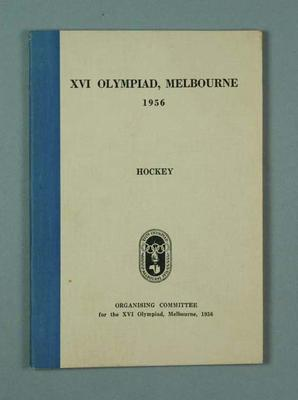 Book, 1956 Olympic Games - Hockey rules & regulations