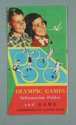 Board game, Commonwealth Savings Bank 1956 Olympic Games