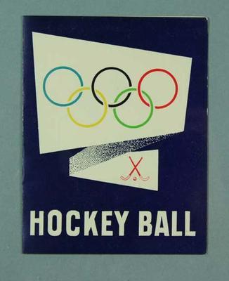 Invitation to VAHA Olympic Hockey Ball, 16 Oct 1956