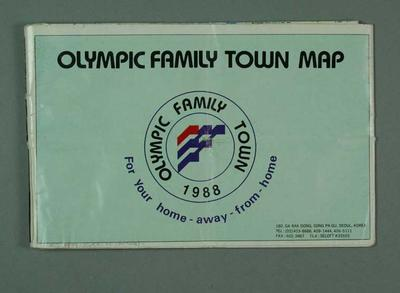 Map, 1988 Seoul Olympic Games