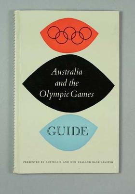 """Book, """"Australia and the Olympic Games Guide"""" c1956"""